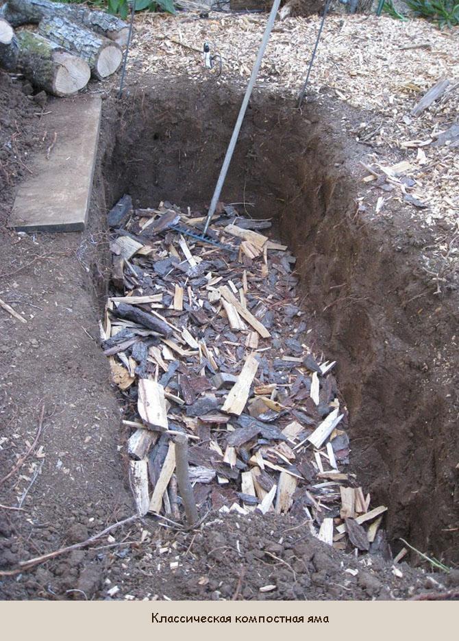 Классическая яма для компоста