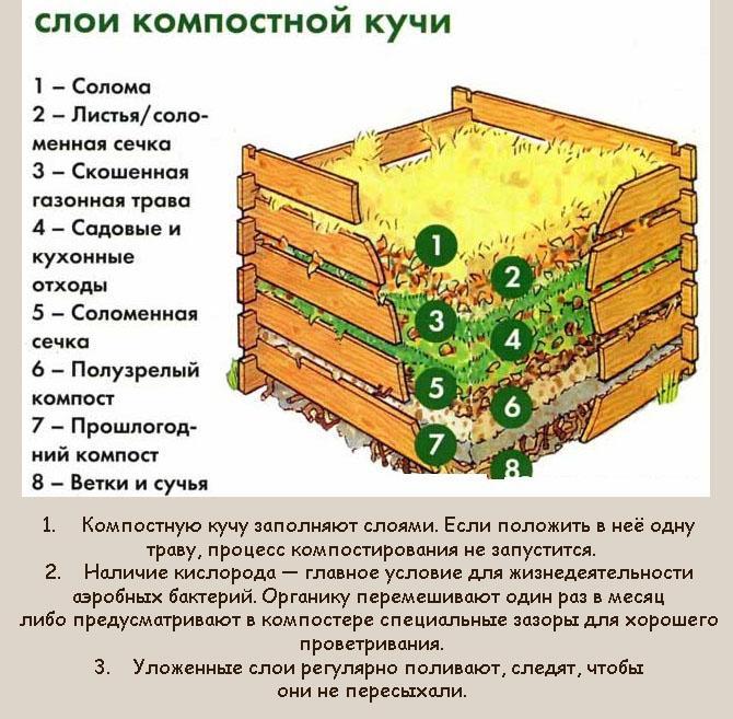 Как правильно заполнить компостную яму